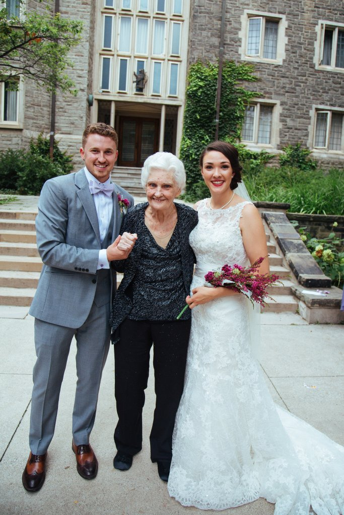 Wedding picture with Grandma - Ode to Grandma