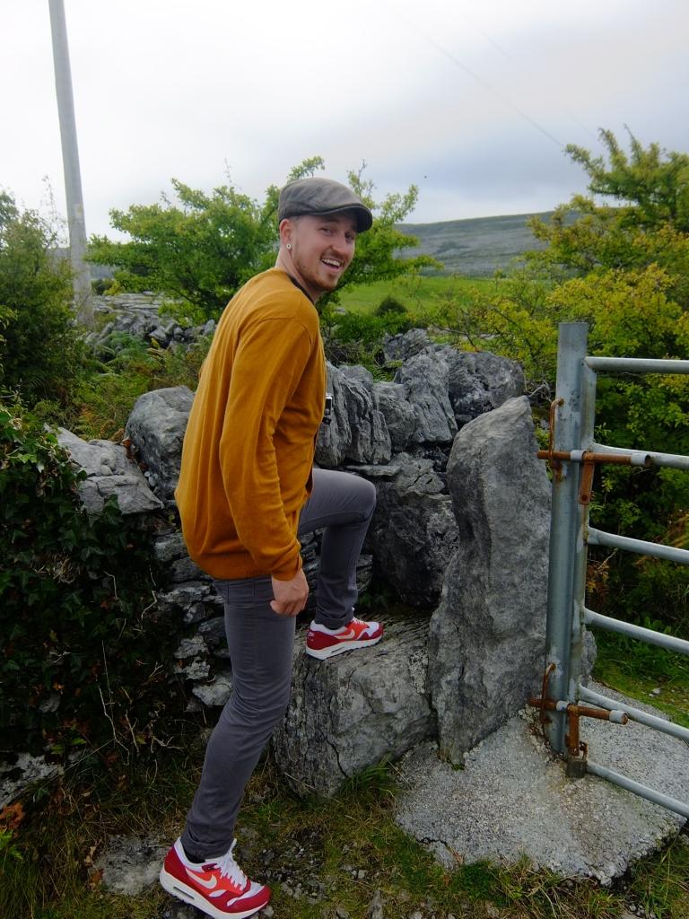 Climbing over the Irish fence