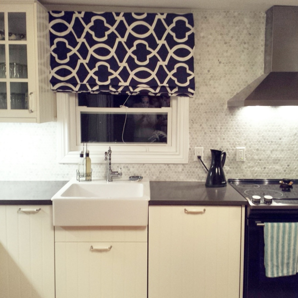 Roman Shades Kitchen Reno